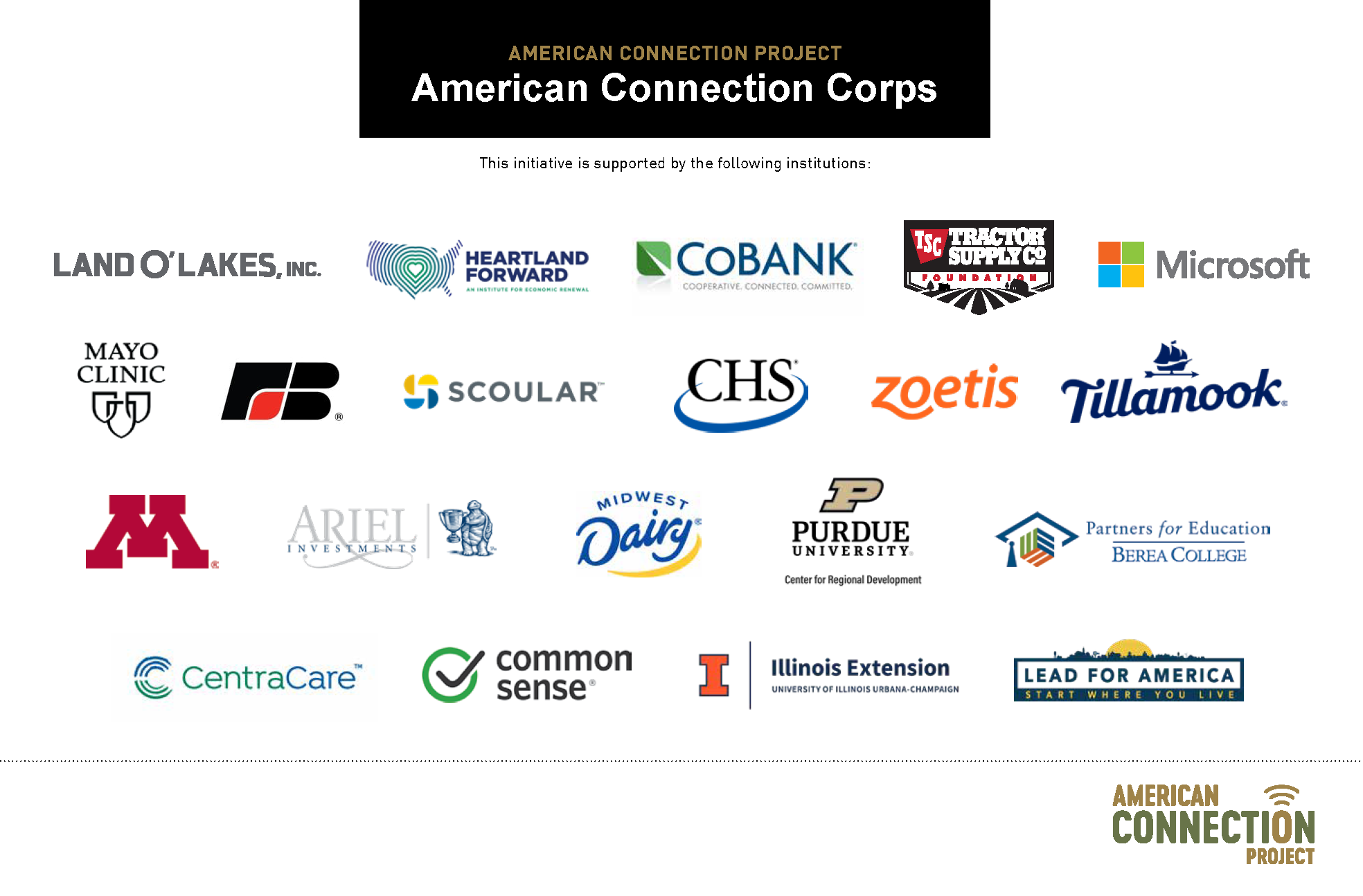What partner organizations are saying about the American Connection Corps